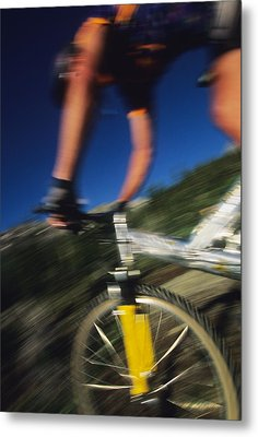 Descending A Mountain Trail Into Yankee Metal Print by Bill Hatcher