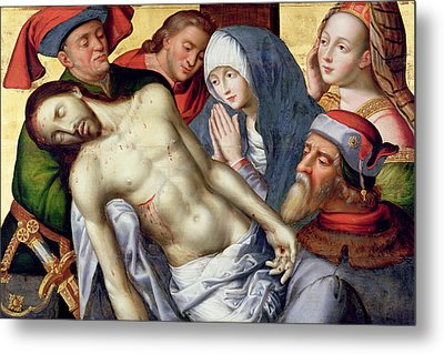 Descent From The Cross Metal Print by Hugo van der Goes