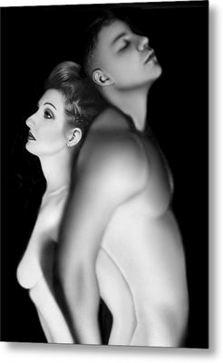 Desdemona And Othello - Engaged And Entwined Metal Print