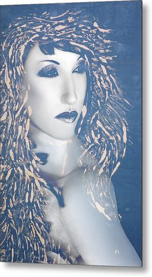 Desdemona Blue - Self Portrait Metal Print