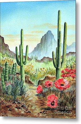 Desert Cacti - After The Rains Metal Print