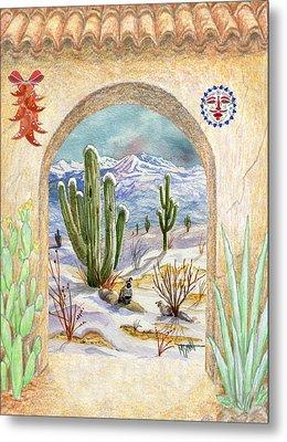 Desert Christmas Metal Print by Marilyn Smith