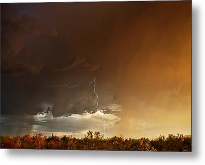 Desert Fire Metal Print by James Menzies
