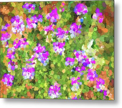 Desert Flowers In Abstract Metal Print by Penny Lisowski