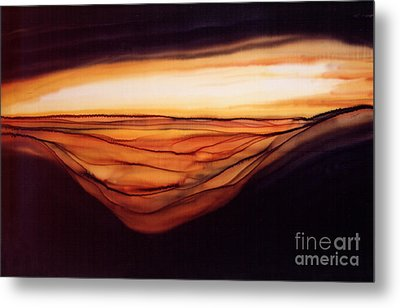 Desert Glow Metal Print by Addie Hocynec