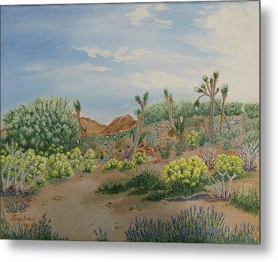 Desert In Bloom Metal Print by Joan Taylor-Sullivant