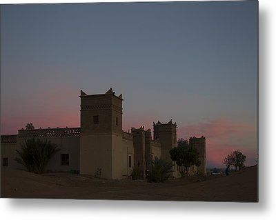 Metal Print featuring the tapestry - textile Desert Kasbah Morocco 2 by Kathy Adams Clark