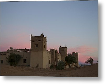 Metal Print featuring the tapestry - textile Desert Kasbah Morocco by Kathy Adams Clark