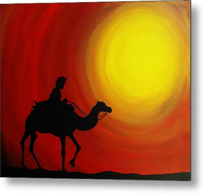 Desert King Metal Print by Ramneek Narang