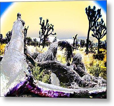 Desert Landscape - Joshua Tree National Monment Metal Print by Ann Tracy