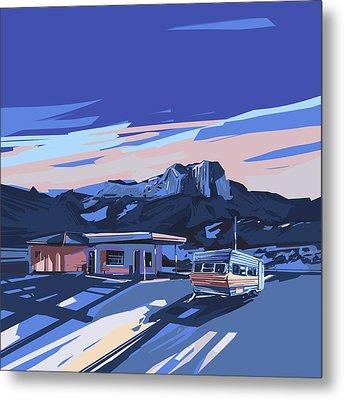 Desert Landscape 2 Metal Print by Bekim Art