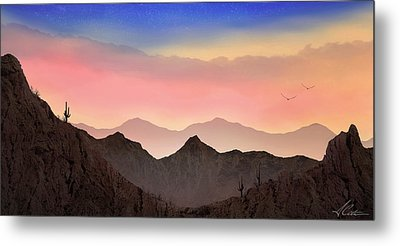 Metal Print featuring the photograph Desert Landscape by Anthony Citro