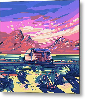 Desert Landscape Metal Print by Bekim Art