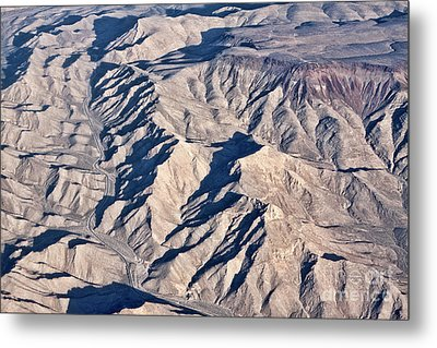Metal Print featuring the photograph Desert Mountain Road by Linda Phelps