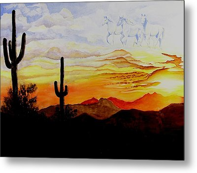 Desert Mustangs Metal Print by Jimmy Smith