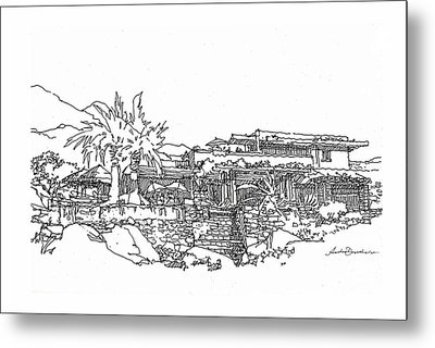 Desert Residence Metal Print by Andrew Drozdowicz