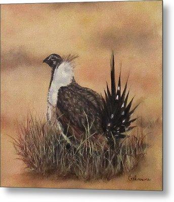 Desert Sage Grouse Metal Print