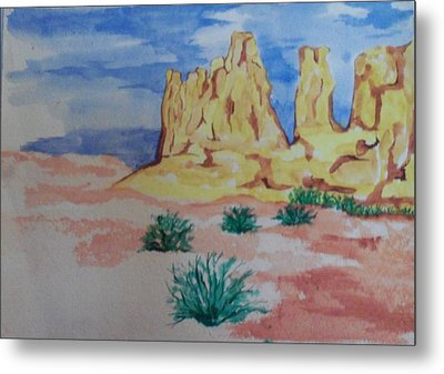 Metal Print featuring the painting Desert Sky by Erika Chamberlin