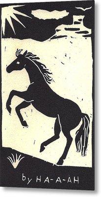 Desert Stallion Metal Print