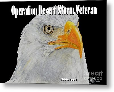 Desert Storm Eagle Metal Print by Bill Richards