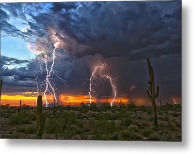 Metal Print featuring the photograph Desert Strike by James Menzies