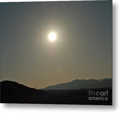 Metal Print featuring the digital art Desert Sun by Walter Chamberlain