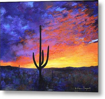 Desert Sunset 4 Metal Print
