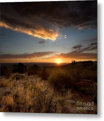 Desert Sunset Metal Print