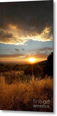 Desert Sunset Over Albuquerque Metal Print by Matt Tilghman