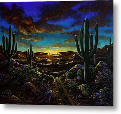 Metal Print featuring the painting Desert Trail by Lance Headlee
