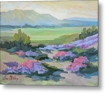 Metal Print featuring the painting Desert Verbena 1 by Diane McClary