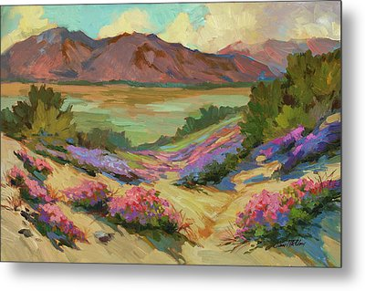 Desert Verbena At Borrego Springs Metal Print by Diane McClary