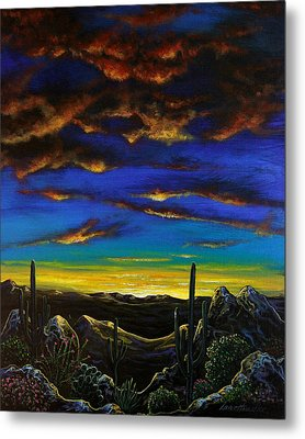 Metal Print featuring the painting Desert View by Lance Headlee