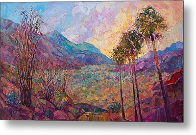 Metal Print featuring the painting Desert Wonderland by Erin Hanson