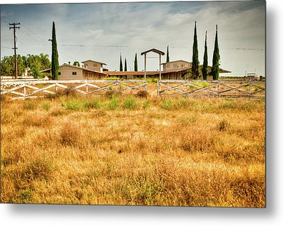 Deserted Horse Stables Metal Print by Connie Cooper-Edwards