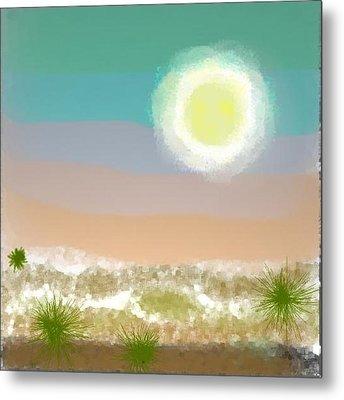 Metal Print featuring the digital art Desert.night.moon by Dr Loifer Vladimir