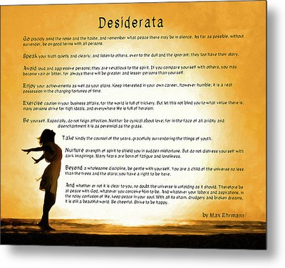 Desiderata - Child Of The Universe Metal Print