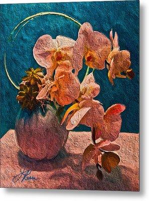 Designer Floral Arrangement Metal Print