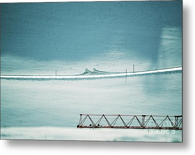Metal Print featuring the photograph Designs And Lines - Winter In Switzerland by Susanne Van Hulst