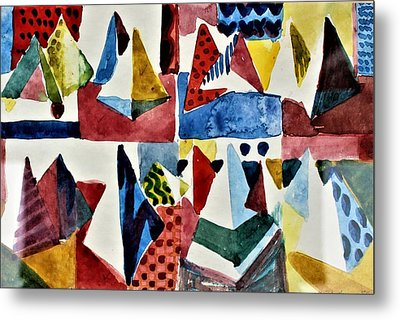 Metal Print featuring the painting Designs For Pyramids by Mindy Newman
