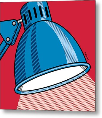 Metal Print featuring the digital art Desk Lamp by Ron Magnes