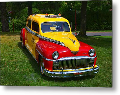 Desoto Skyview Taxi Metal Print by Garry Gay