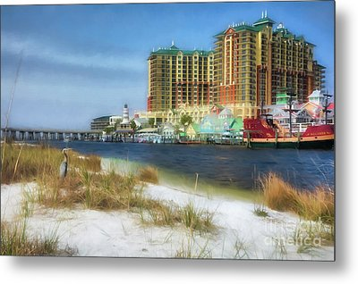 Metal Print featuring the photograph Destin Harbor # 2 by Mel Steinhauer