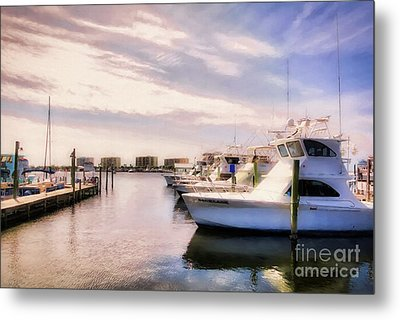 Metal Print featuring the photograph Destin Harbor Daydreams by Mel Steinhauer