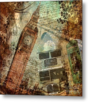 Destination London Metal Print by Mindy Sommers