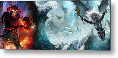 Destiny Of Velious Metal Print by Ryan Barger