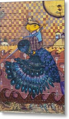 Detail - Mural Coney Island Metal Print by Robert Ullmann
