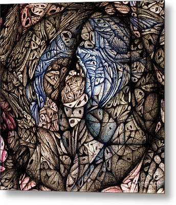 Metal Print featuring the drawing detail Circuler VIII  continuum II by Jack Dillhunt
