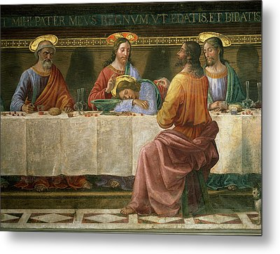 Detail From The Last Supper Metal Print
