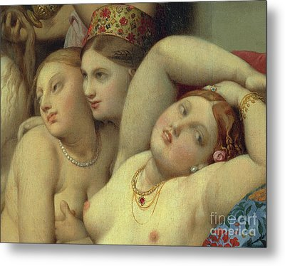 Detail From Turkish Bath Metal Print by Jean Auguste Dominique Ingres